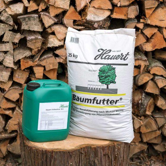 Hauert Kombi Flüssigdünger 10 L + Baumfutter® 25 kg